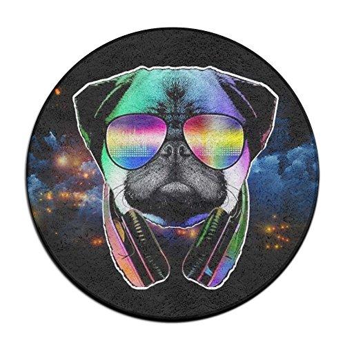 Hero Mats DJ Mops Hund mit Kopfhörer Sonnenbrille Fußmatte Entrance Mat Fußmatte/Front-Teppich Fußmatten Rutschfeste