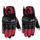 Gimitunus Outdoor-Handschuhe Military Rubber Hard Knuckle für Radfahren Motorrad Wandern Camping Airsoft Paintball Angeln (Farbe : Rot, Größe : M)