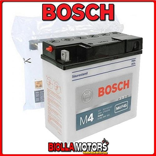 0092M4F450 BATTERIA BOSCH 51913 CON ACIDO 51913 MOTO SCOOTER QUAD CROSS