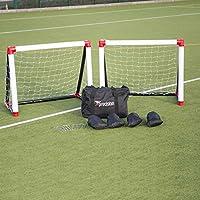 2 x Precision Goal Post 1.2m x 1m With Net, Pump, Sandbags & Anchors rrp£275