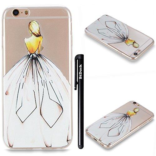 BtDuck iPhone 6S Plus Hülle Silikon Transparent, Durchsichtig TPU Silikon Schutzhülle Transparent...