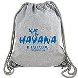 Havana Bitch Club - Gym Bag Turnbeutel aus Fair Trade Bio Baumwolle in hochwertiger Qualität mit dicken Kordeln und Sto