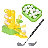 Automatic Golf Tee Machine, Junior Golfer Training Practice Toy, Kids Indoor Outdoor Game