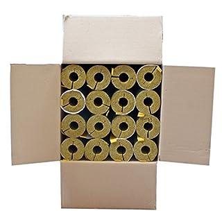 Austroflex Karton 12m Steinwolle Rohrschale alukaschiert 42 mm x 30 mm 1 1/4 Zoll Mineralwolle Rohrisolierung Astratherm Steinwoll-Rohrschalen