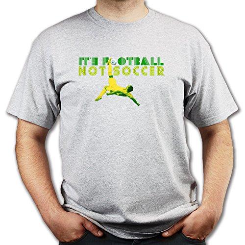 It's Football Not Soccer World Cup WM Brazil T-shirt Grau
