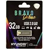 Hyundai Bravo Deluxe Unidad Flash USB 32 GB USB Tipo A 2.0 Plata - Memoria USB (32 GB, USB Tipo A, 2.0, 10 MB/s, Sin Tapa, Plata)