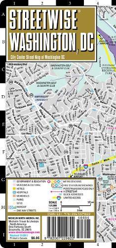 Streetwise Washington DC Map - Laminated City Center Street Map of Washington, DC (Washington Dc Street Map)