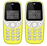 IKALL K71 Mobile Phone Combo (Yellow + Yellow) with Vibration Feature, 800 mAh Battery