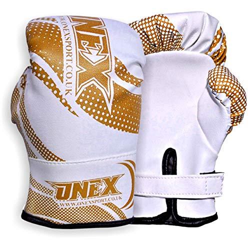 ONEX Boxhandschuhe für Kinder Training Sparring Muay Thai Kickboxen Sand Sack Junior Boxing Gloves Kampfsport 2oz, 4oz (Gold, 2oz)