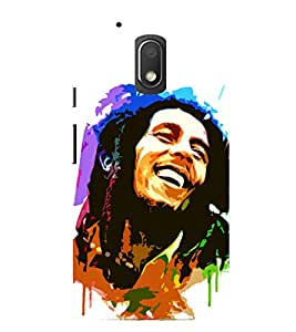 MOTOROLA MOTO G4 PLAY BOB MARLEY SMILE PRINTED BACK CASE COVER by SHAIVYA