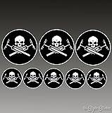 8 Aufkleber Fahrrad MTB Elektrorad Zubehör Skull devil Punisher Sticker BMX