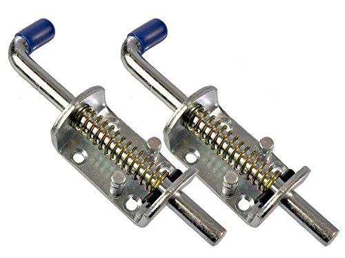 Preisvergleich Produktbild 2 Stück Universal Federriegel 170mm Stahl verzinkt - für Anhänger, Tore uvm.