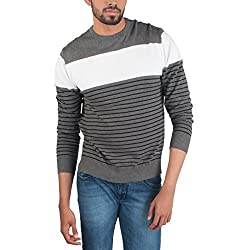 Provogue Mens Cotton Sweater (8903522446122_103587-GY-43_Small_Charcoal)