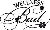 GRAZDesign 650237_30_070 Wandtattoo Wellness Bad mit Blumen für Badezimmer | auf Spiegel - Wand - Fliesen klebbar | Tür-Aufkleber WC (50x30cm//070 schwarz)