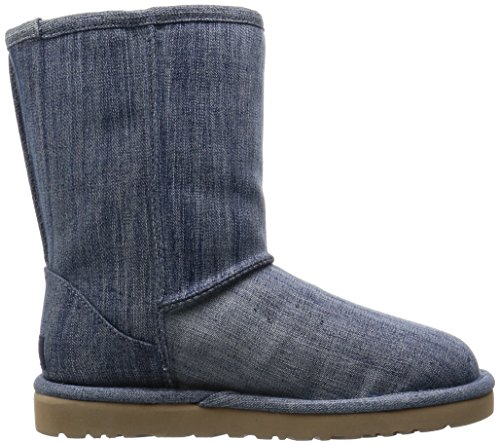 UGG W Classic Short Washed Denim navy Navy