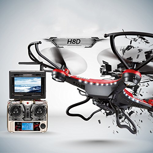 JJRC H8D RC Quadrocopter Drone 2.0MP HD Camera Real Time 5.8G FPV CF Mode Helicopter ferngesteuerte 2.4G 4CH 6 Achsen Headless Modus Aircraft mit LED Lichter Neu - 3