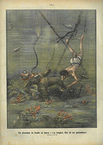 Un dramma in fondo al mare. La tragica fine di un palombaro.