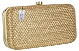 Parizaat By Shadab Khan Women's Clutch New year & Christmas Gift(Gold, bx847)