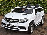 Allrad f 2 Kinder XXL Kinderelektroauto kinderauto Mercedes GLS 63 4x4 gefedert Zweisitzer Kinderelektrofahrzeug 12V Jeep Offroader