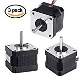 5PCS Nema 17 Motor paso a paso, TopDirect 1.7A 0.4Nm (56.2oz.in) 47mm con 4-Pin 2-Cable para Impresora 3D / CNC