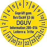 Prüfplakette Geprüft...BetrSichV ... DGUV, 2019 - 2024, Folie, Ø 3 cm, 100 St.