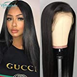 VIPbeauty Malasia virgen pelo humano liso encaje frontal pelucas 130% densidad pelo humano...