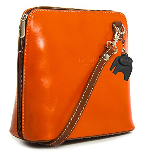 Big Handbag Shop, Borsa a tracolla donna One Orange - Tan