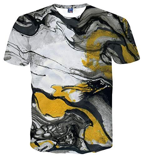 Sykooria T Shirts Teenager Jungen Kurzarm T-Shirt Sommer 3D Hip Hop Tinte Herren T-Shirts Top (Hip Hop-t-shirt)