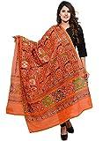 Vastraa Fusion Women's Cotton Dupatta, Free Size (Orange, VASTRAATS0077)
