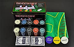 House Of Quirk Texas Hold'Em Poker Set Casino Game - 200 Poker Chip Set (Small)
