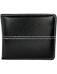 Apki Needs Mens Wallet Stylish, Fashionable & Textured Black Striped Wallet
