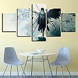 Canvas Drucken Auf Leinwand Naruto 5 Stücke Haus Schlafzimmer Wohnzimmer Möbel Wandkunst Dekorationen-Kein Rahmen,C,30X40x2+30X60x2+30X80x1