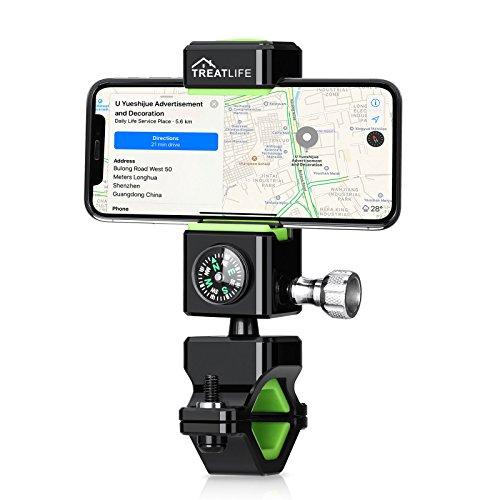Handyhalterung Fahrrad/Bicycle Phone Holder, Handyhalterung Motorrad, iPhone/Bike Holder mit Led Fahrradbeleuchtung, stabile und 360 Drehen verstellbare Halterung für 3,0-6,5 Zoll Smartphone und Andere Geräte