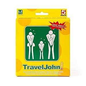 51R6BYkiQJL. SS300  - TravelJohn Vomit Bags - 5-Pack