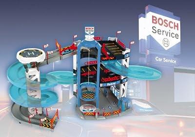 Theo Klein 2809 - Bosch Parkhaus mit 3 Ebenen und Turm mit Spurwechsel, Spielzeug von Theo Klein