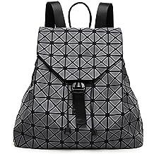 dc08b9ad0914e Geometrie Damen Rucksäcke Matte gebürstet Doppelter Schulter Baobao Bag  japanischen Dreieck Rucksack Rucksack