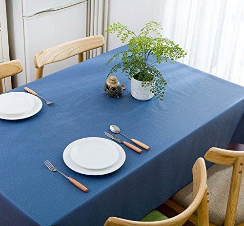 DONG 2 Meter Vinyl Rechteckige Tischdecke Abdeckung 6~8 Sitzer Fleck Beständig Abwischen Einfarbig Tischtuch für Zuhause (200 * 137 cm) (Farbe :...