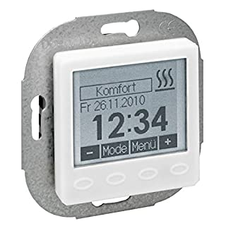 Raumtemp.-Uhrenregler UP 55 x 55 reinws, o.Rahmen HTRRUu210.02155