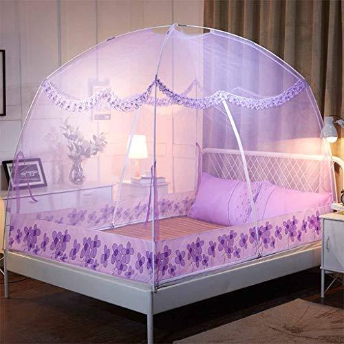t-Queen-Size, Türzelt Mesh-Baldachin-Vorhänge der Kuppel-2 einfach zur Installation, faltendes Insektennetz für Bett-Ausgangsschlafzimmer im Freien kampierend ()