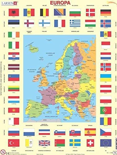 Larsen Europa und Flaggen Puzzle 70 Teile