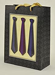 Idea Regalo - Busta Regalo Cravatte Uomo 3D cm.18x8x24