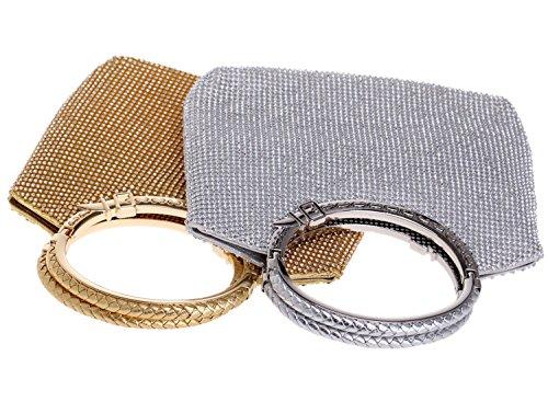 Pochette Donna Sera Borsetta Portafoglio Partito Cerimonia Borsa Sposa Spalla Frizioni Eleganti Oro Silver