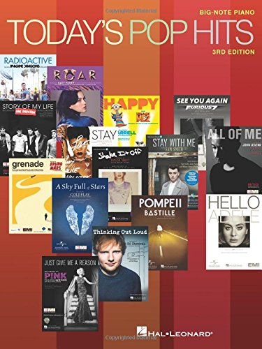 Today's Pop Hits : 3rd Edition - Big Note Piano / Divers auteurs |