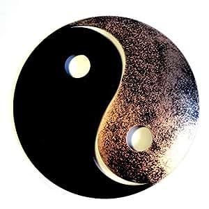 Amazon.de: Shamwari Art Yin Yang aus Metall, schwarz/Gold