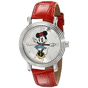 Disney Damen-Armbanduhr w001874Minnie Mouse Analog Display Analog Quarz Rot