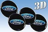Adesivi ruota Ford, tutte le misure, logo centrale in 3D