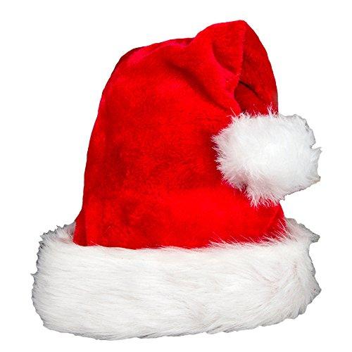 Romacci Weihnachtsmütze Für Kinder & Erwachsene Nikolausmütze mit Pelzrand Wintermütze Weihnachtsmann (Erwachsenen Kostüme Auf Einem Weihnachtsmann Der Rentier)