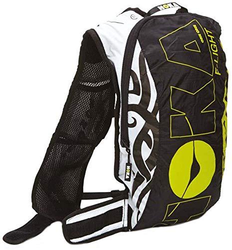 HOKA One One f-light 7L schwarz/weiß, grün Rucksack–Rucksäcke (schwarz/weiß, grün, Bild, Männer, Vordertasche, Shoulder Strap Pocket, Reißverschluss, 7L)