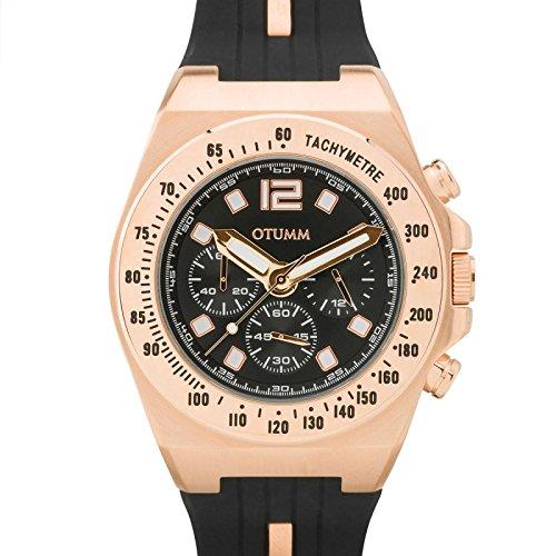 Otumm Leichtathletik Marina Crono Rose Gold Dark 45mm Unisex Leichtathletik Armbanduhr