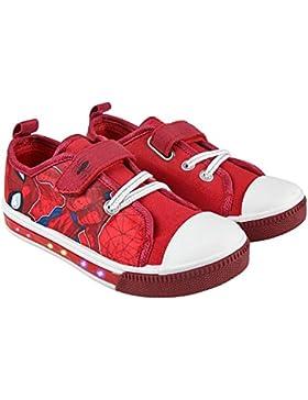 Spiderman Marvel Zapatillas de Material Sintético Para Niño Rojo Rojo